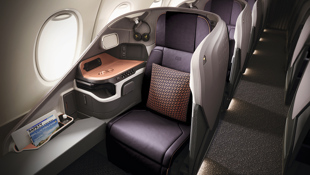 Singapore Airlines New A380 Business Class seat