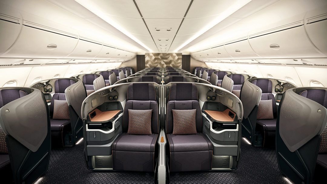 Singapore Airlines New Business cabin